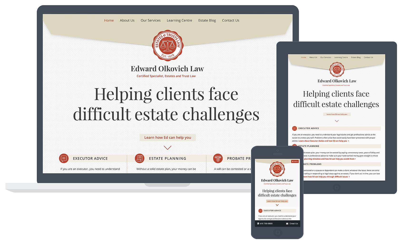 Edward Olkovich Law web design